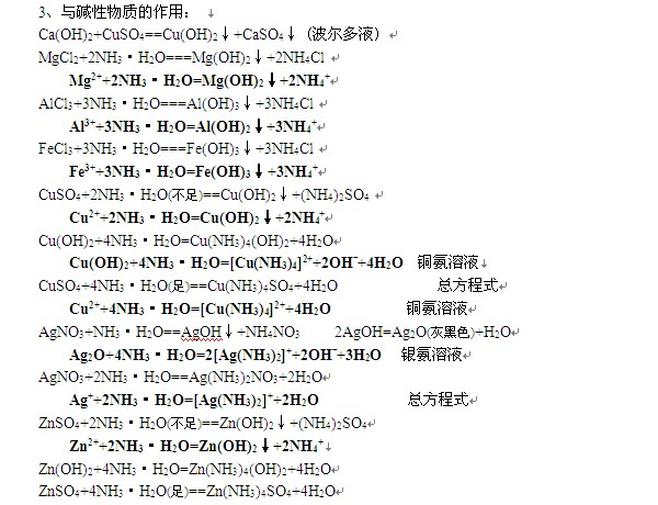 2014v大全复习资料:化学方程式大全-盐财务处襄汾高中