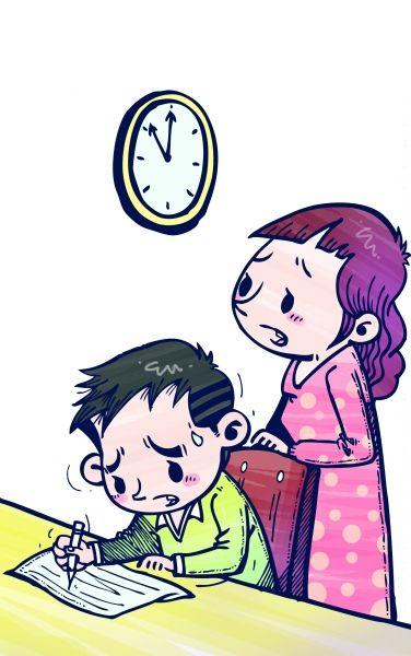 """(扬子晚报记者 杨甜子)    ●家长吐槽●   一年级订正每天要""""画画"""""""