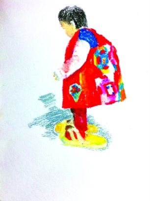 感恩母亲的手绘图片
