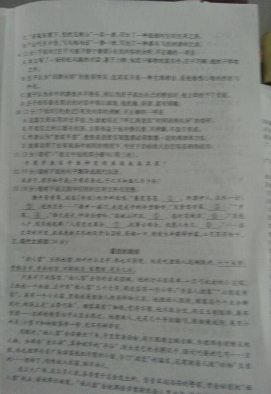 湖北荆州2014中考语文试题