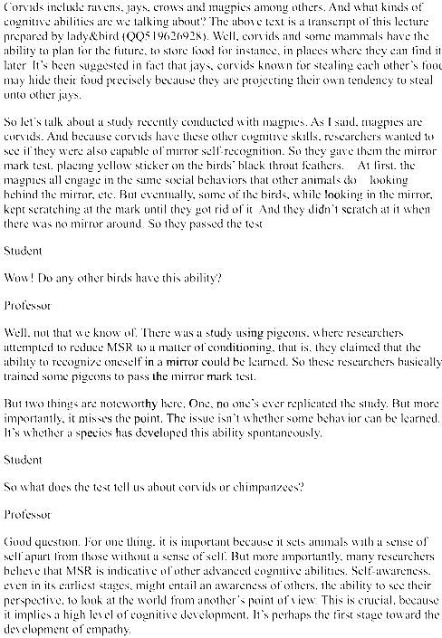 托福听力tpo28听力文本(conversation+lecture)