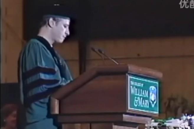 囧叔在母校威廉玛丽学院的毕业演讲