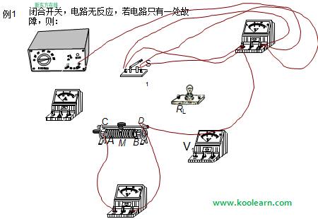 初二物理教案:电路故障的分析
