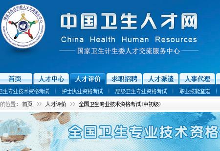 中国卫生人才网2010年技术资格考试成绩查询入口