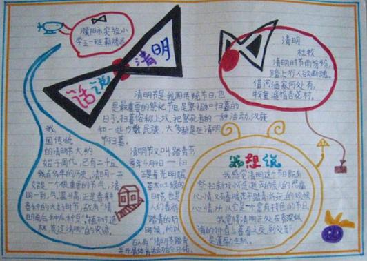 的关于清明节的手抄报图片,更多关于清明节的手抄报资料尽在新东