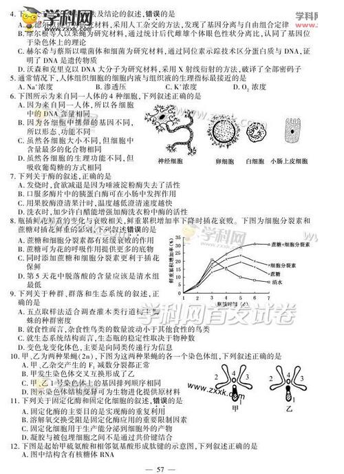 2015年江苏高考生物试题及答案