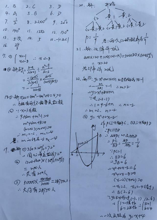 2015江苏泰州中考数学答案