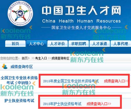 山东卫生人才网_中国卫生人才网成绩查询入口及分数线