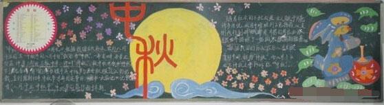 中秋节黑板报资料:中秋节由来图片