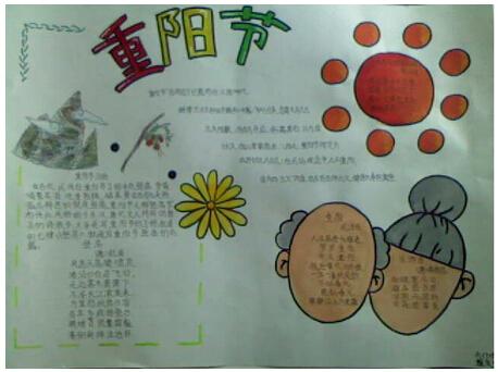 关于2015重阳节的手抄报:重阳节各地风俗