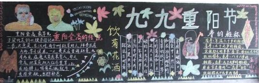 重阳节黑板报 重阳节登高的传统