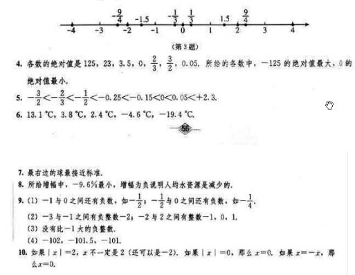 人教版九年级上册数学课本答案图片
