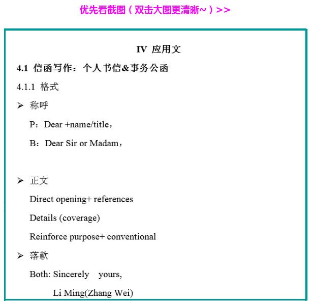 考研英语作文应用文解析作文及自立模板写作小学图片