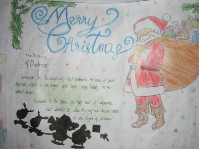 少儿英语手抄报:圣诞节礼物