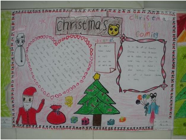 六年级圣诞节手抄报:圣诞快乐