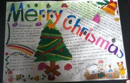 圣诞节英语手抄报模板集锦