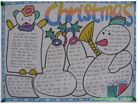 圣诞节的英文手抄报大全