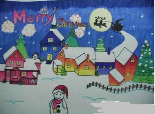 圣诞节手抄报图片:圣诞快乐