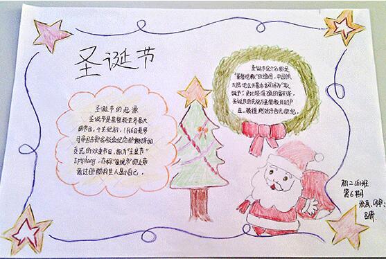 圣诞节手抄报:圣诞节
