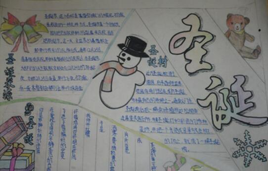 圣诞节手抄报资料:圣诞节
