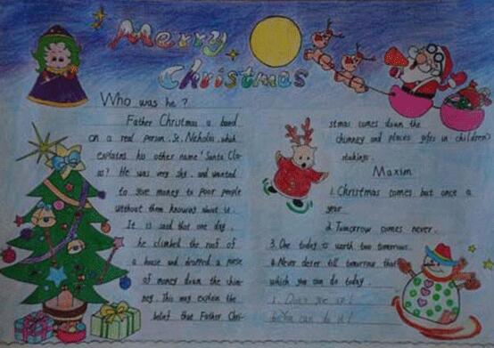 圣诞节英语手抄报:快乐的圣诞_高考_新东方在线