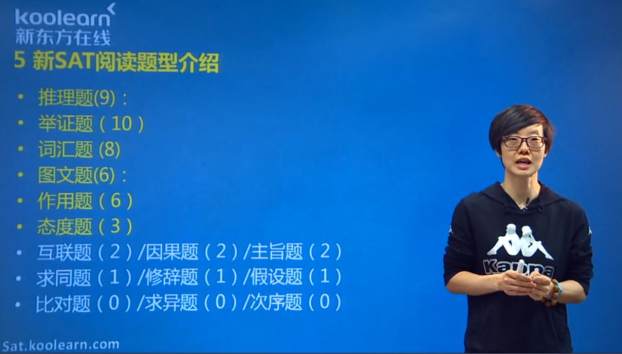 新东方在线名师齐荣乐:新SAT阅读考试题型介绍