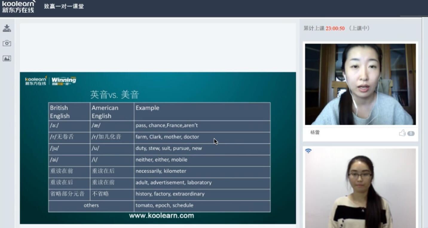 新东方在线杨蕾:托福口语常见英音美音发音区别