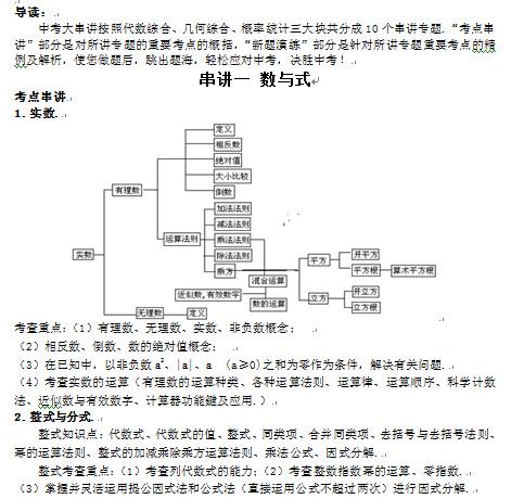 中考数学知识点大串讲(下载版)
