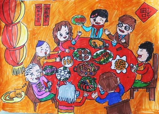 关于春节的图片:年夜饭