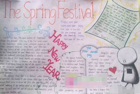 春节英语手抄报内容 新的一年
