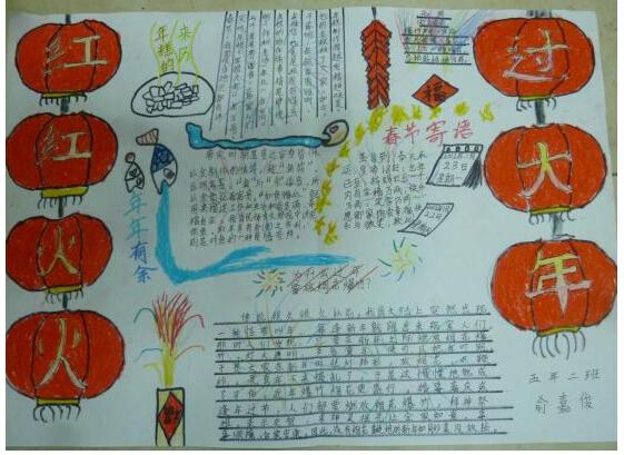 红红火火过大年手抄报图片(3)
