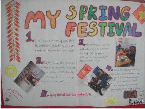 关于春节的英语手抄报 我的春节
