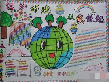世界地球日手抄报:保护环境