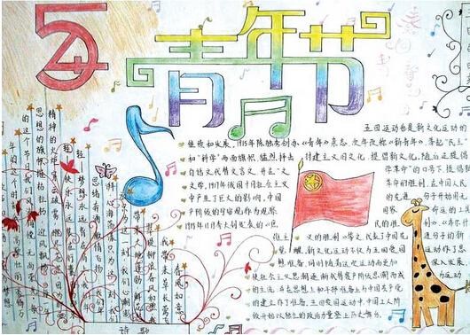 五四青年节手抄报图片大全:五四运动的简介