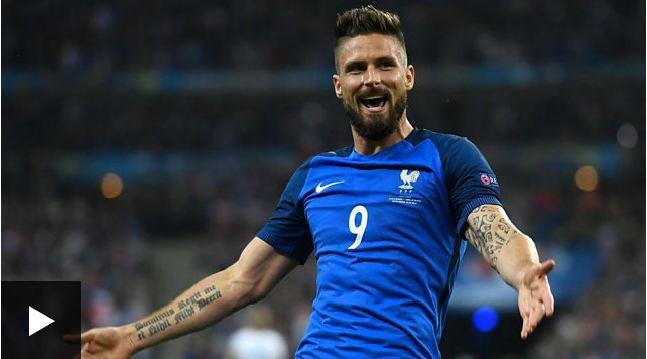 2016欧洲杯:法国5-2终结黑马冰岛(图)