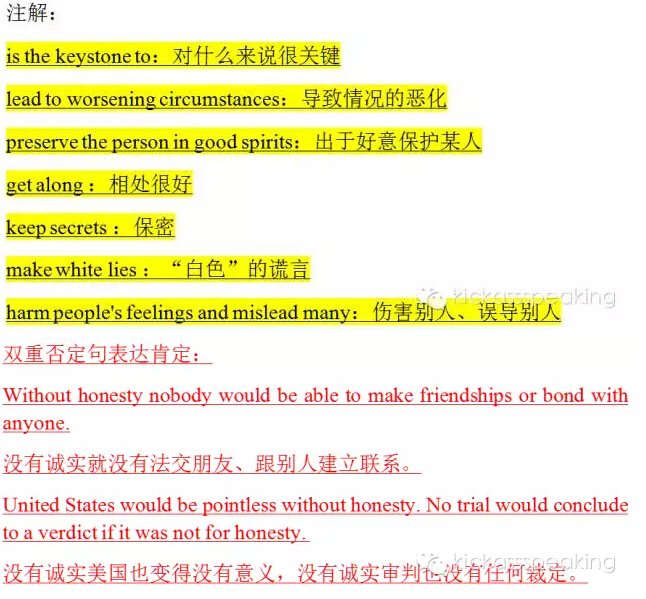 新托福写作素材有哪些?要无条件的诚实吗类素材整理图2