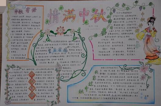 关于中秋节的手抄报图片资料大全