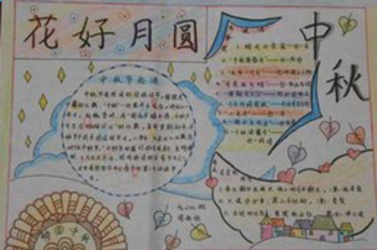 中秋节英语手抄报 花好月圆图片