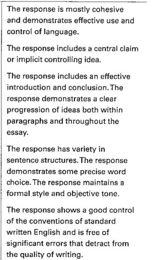 新SAT写作评分标准解析
