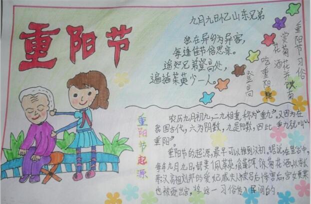 重阳节手抄报:重庆节诗歌
