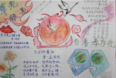 关于重阳节的手抄报图片:百善孝为先