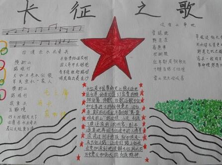 纪念红军长征胜利80周年手抄报内容:长征之歌