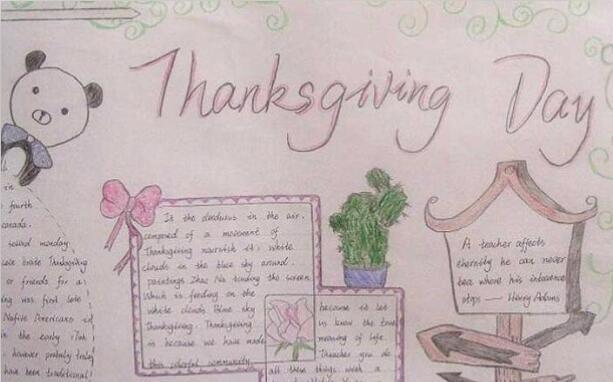 感恩节英语手抄报图片资料图片