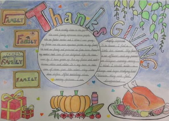 关于感恩节的手抄报_感恩节手抄报内容_关于感恩的