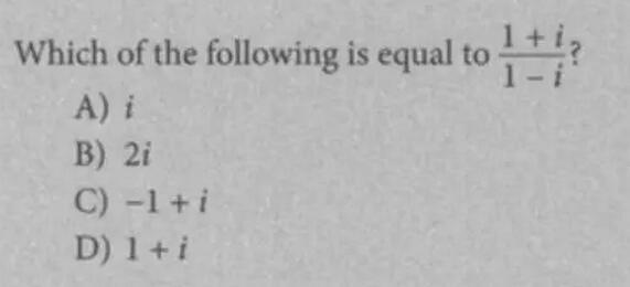 SAT数学复数题型解析