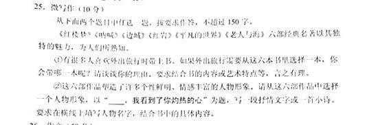 2017北京西城区高三期末语文微写作