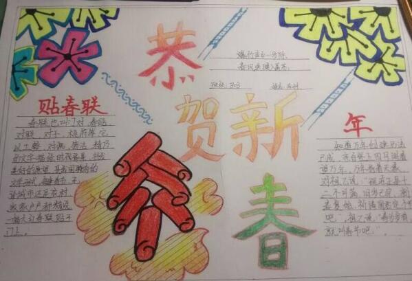春节手抄报:恭贺新春