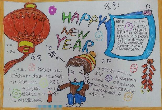 春节手抄报图片:春节习俗
