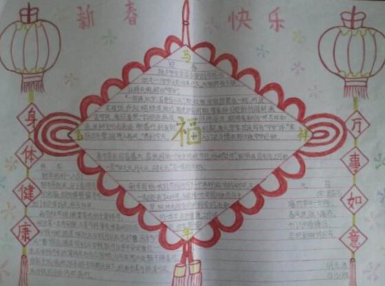 春节手抄报资料:新春快乐