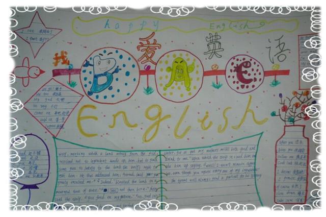 寒假英语手抄报:快乐英语,快乐假期